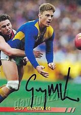 ✺Signed✺ 1994 WEST COAST EAGLES AFL Premiers Card GUY MCKENNA