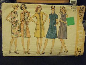 Simplicity 6078 Misses Front Zip Dress Pattern - Size 18 Bust 40