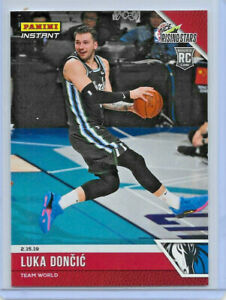 """2018-19 PANINI INSTANT """"RISING STARS"""" LUKA DONCIC ROOKIE RED SSP PARALLEL 1/563"""