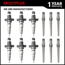 Set of 6 Diesel Injectors w/ Connector Tube For 2003-2004 Dodge Ram Cummins 5.9L
