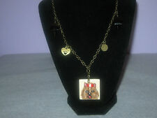 "YORKSHIRE TERRIER BRONZE CHAIN 18""  NECKLACE CHARMS NWT FREE SHIPPING!!"