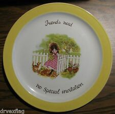 "1970s ""Friends need no Special invitation"" 10"" Plate by Laura #76430"
