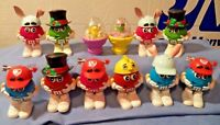 """Nice China M & M""""s 10 Candy Dispensers  Figures & 2 Easter Push Toys"""