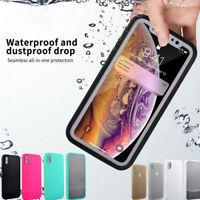 360° Waterproof Dustproof Rubber Shockproof Case  For iPhone XS Max XR X 8 7 6s