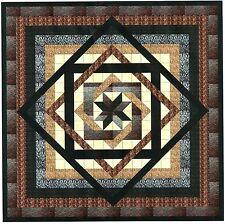 Easy Quilt Kit/Tumbling Star/Black,Brown,Cream/ Fabrics Ready To Sew***