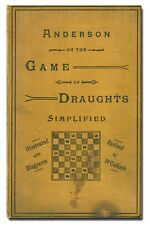 The Game of Draughts Simplified by Andrew Anderson HB  Checkers  W1