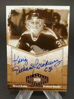 2004-05 UD Legendary Signatures Autographs Richard Brodeur Hard Signed