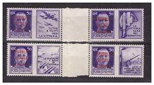 1944  -  PROPAGANDA DI GUERRA  -  50 CENTESIMI   COPPIE  CON  INTERSPAZIO    **