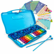 Topbuy 25 Notes Kids Chromatic Aluminium Xylophone with Case and 2 Mallets