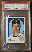 DON MATTINGLY 1988 Panini Sticker #152 New York Yankees Unpeeled PSA 9