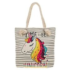 Equilibrium Time to be a Unicorn Tote Bag Shopping Bag Canvas Ladies/Girls Gift