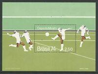Brésil. 1974. Coupe Du Monde De Football Miniature Feuille SG: MS1501. inutilisé