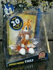 """TAILS SONIC THE HEDGEHOG 20TH ANNIVERSARY 6"""" SUPER POSER ACTION FIGURE NEW!"""