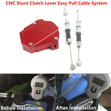 ​CNC Stunt Clutch Lever Easy Pull Cable System For HONDA YAMAHA SUZUKI KAWASAKI