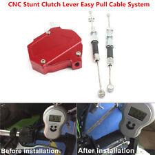CNC Stunt Clutch Lever Easy Pull Cable System For HONDA YAMAHA SUZUKI KAWASAKI