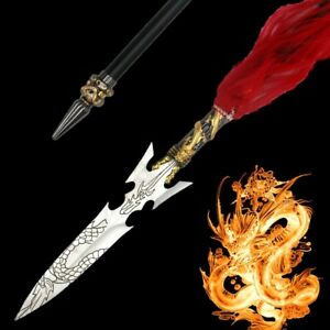 Chinese sword Fiery dragon Overlord Spear pike lance Stainless Steel blade #099