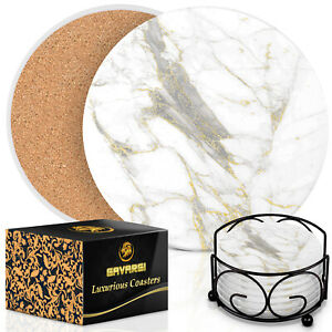 4pc//6pc Cork Drink Coasters Round Non-slip Beverage Pad /</<Ships from USA/>/>