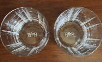 "Pair Elegant B&B Cut Lead Crystal Clear Whiskey Glasses 3 5/8"" X 3 5/8"" 8oz"