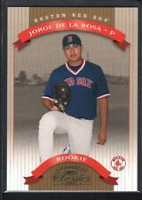 JORGE DE LA ROSA 2002 DONRUSS CLASSICS #132 RC ROOKIE RED SOX SP #0896/1500