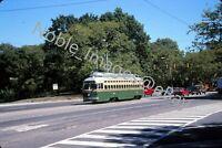 2005 SEPTA PCC 2322 Trolley Philly Urban City Scene Kodachrome Slide