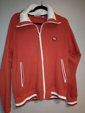 Vintage Mens Puma Track Jacket Size Large L Red/White