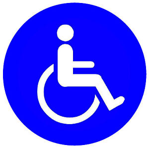 4 X DISABLED - WINDOW / DOOR INSIDE STICKERS - 2 x square & 2 X round / NEW