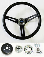1975-1977 Bronco 70-77 F150 F250 F350 Black on Black Grant steering wheel 13 1/2