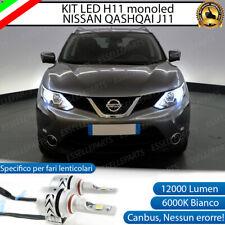 KIT LED H11 6500K CANBUS 12000 LUMEN MONO LED MONOLED PER NISSAN QASHQAI J11