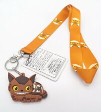 """3"""" Totoro Catbus PVC Bendable Rubber Key Chain Ring with Fabric Lanyard #1"""