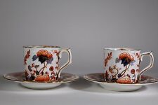 PAIR ROYAL CROWN DERBY CUP & SAUCER