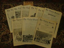 The Valley Gazette 1974-1980 9 Issues Nesquehoning History Pennsylvania