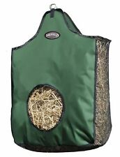 GREEN Showman Heavy Denier Nylon Hay Bag w/ Mesh Sides & Bottom! NEW HORSE TACK!