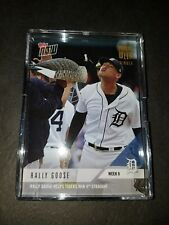 2018 Topps Now Moment of the Week Gold Winner Rally Goose Tigers /558 MOW-9