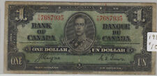 1937 Bank of Canada One Dollar Bill. (P145)