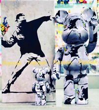 Medicom Be@rbrick 2020 Banksy Flower Bomber 400% + 100% bearbrick Set