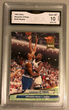 SHAQUILLE O'NEAL 1992-93 FLEER ULTRA ROOKIE CARD RC #328 GEM MINT 10 GMA GRADED