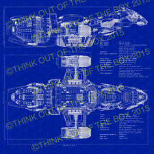 Firefly Serenity Blueprint Glossy Poster Art Print! NOT AVAILABLE ANYWHERE ELSE