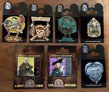 Disney Pirates of the Caribbean Limited Edition 7 Pin Set Davy Jones Barbossa