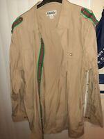 Avalanche KHAKI STYLE Mens Size 5XL Long Sleeve Button Down Shirt EUC BIG &TALL