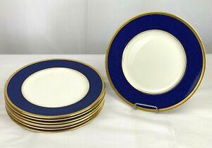 "COALPORT  English Bone Eight China Dinner Plates in Athlone Blue  10 3/4"""