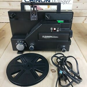 Chinon Whisper Silent Dual 8mm Variable Speed Movie Projector 727 767N