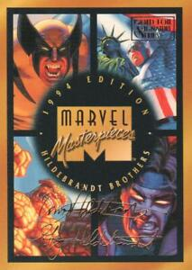 1994 Marvel Masterpieces Trading Cards Gold Signature #140 Checklist CL