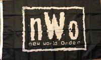 NWO New World Order Wrestling Flag 3x5  Black banner WCW, WWF, WWE Man Cave