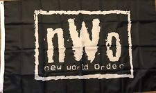 NWO New World Order Wrestling Flag 3x5  Black banner WCW, WWF, WWE Man Cave