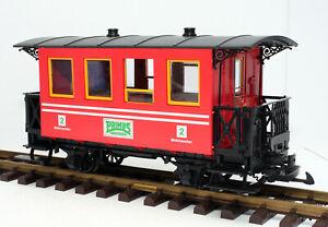 LGB/ PRIMUS 93107 Personenwagen 2-achsig, ROT, 2. Klasse, Spur G (H)