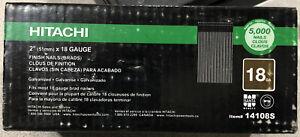 "Hitachi 14108s 2"" 18 Gauge Electro Galvanized Brad Nails 5,000"