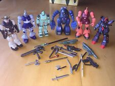 6 Gundam Bandai Robots Incomplete Figure Assorted Parts and Accessories Toys