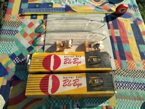 PAIR NOS MIB vtg Blo-Bye B-post draft deflectors; 49-52 Chev or Pontiac on box