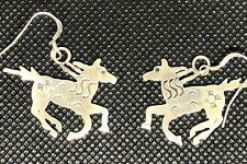 Artist Handcraft Sterling Horse Earring