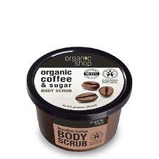 Organique Boutique EXFOLIANT DE CORPS Brésilien café et sucre sans paraben